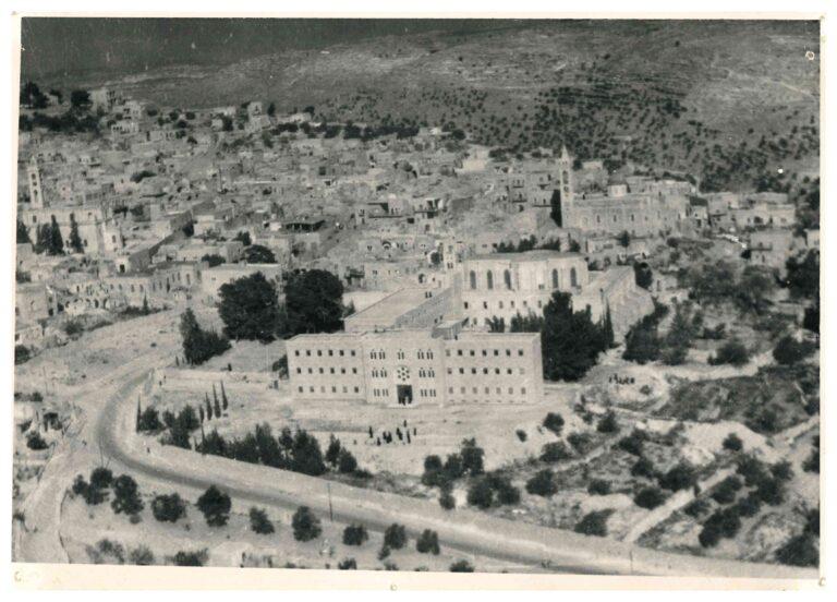 صورة جوية للمعهد الإكليريكي في مدينة بيت جالا عام 1957