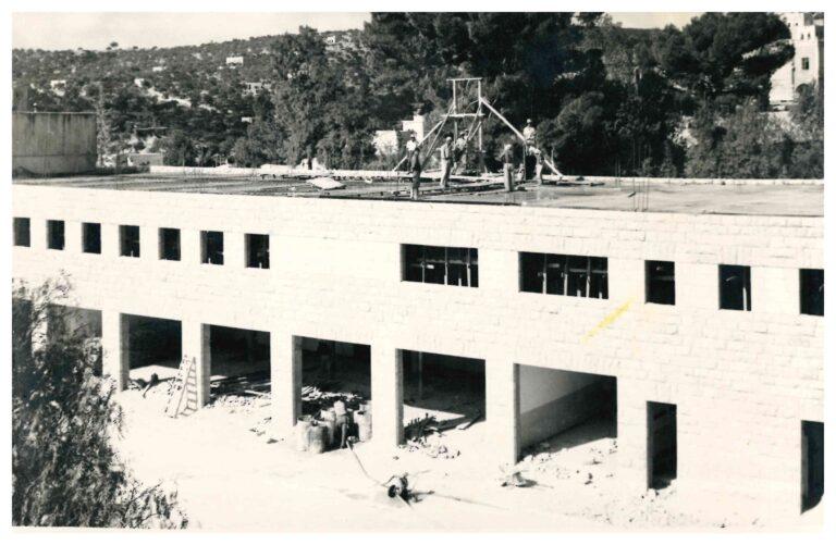 مبنى الإكليريكية الصغرى قيد الإنشاء- عام 1959